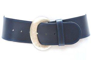 8cm brede dames riem donkerblauw bl801