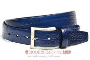 3,5cm kobalt blauwe pantalon riem - blauwe croco riem Timbelt bl509tb